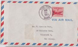 AMERICAN SAMOA - AIR MAIL COVER PAGO PAGO 1955 TO ELIZABETH NEW JERSEY - ENVELOPPE SAMOA AMERICAINE - Samoa Américaine