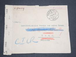 ITALIE - Enveloppe D' Un Camp De Prisonnier En Italie Pour La Croix Rouge En Suisse En 1945 , Contrôle Postal -  L 13613 - 1944-45 République Sociale