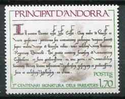 6141    ANDORRE   N° 273**  7ème Centenaire De La Signature Des Paréages : Texte Des Paréages  1978    TTB - Neufs
