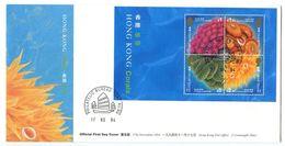 Hong Kong 1994 Scott 711a S/S FDC Corals - Hong Kong (...-1997)