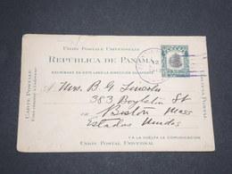 PANAMA - Entier Postal Pour Les Etats Unis En 1913 -  L 13614 - Panama