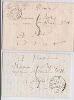 Vervins (Aisne) - Lot De 2 Plis 1832 - Précurseurs - Préphilatélie - Postmark Collection (Covers)