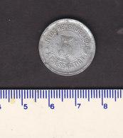 _ Monnaie Necessité Hérault (34) .. 5 C  Syndicat Alimentation Aluminium 1921 - Monétaires / De Nécessité