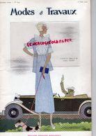 REVUE MODES & TRAVAUX-AVRIL 15 JUIN 1933- N° 324-BOUCHERIT-JENNY-PUB URIAGE -DIAMANTS BURMA PARIS- SCHIAPARELLI-LUCEBER- - Fashion