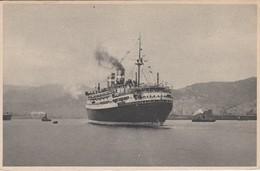 POSTAL DEL BARCO CONTE BIANCAMANO VISTO DE POPA  (BARCO-SHIP)  LLOYD SABAUDO - Comercio