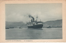 POSTAL DEL BARCO CONTE BIANCAMANO EN NAVEGACION  (BARCO-SHIP)  LLOYD SABAUDO - Comercio