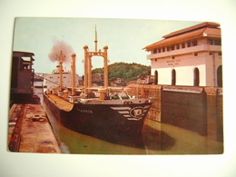 CANAL DE PANAMA -  Tharros     NAVE SHIP     BARCA    BATTELLO CHIATTA   FORMAATO PICCOLO - Chiatte, Barconi