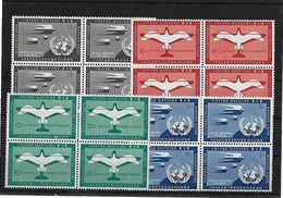 Naciones Unidas Oficina De Nueva York 1951-57 Correo Aéreo Serie Completa - New York - Sede Centrale Delle NU