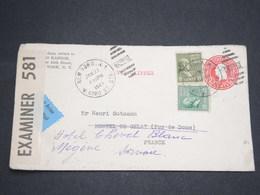 ETATS UNIS - Entier Postal + Complément De New York Pour La France En 1941 Avec Contrôle Postal -  L 13621 - Postal History