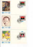 DR-L103 - NATIONS UNIES 162 FDC DRAPEAUX DES NATIONS - UNO