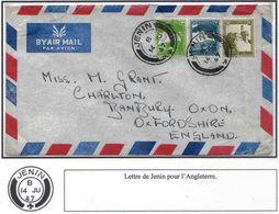 Palestine Palastina Cisjordanie  Lettre Cover Carta Belege Jenin 1947 England - Palestina