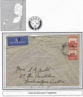 Palestine Palastina British Mandate Airmail Cover Lettre Carta Belege Gaza 1936 - Palestine