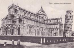 PISA - DUOMO DI FIANCO E CAMPANILE    AUTENTICA 100% - Pisa