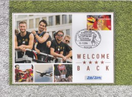 Germany Folder With Two Covers From 2014 World Cup FIFA Brazil - Danke Jungs (LAR7-30) - Fußball-Weltmeisterschaft