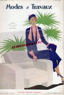 REVUE MODES & TRAVAUX-15 AVRIL 1933-N° 320-BOUCHERIT- CONFISERIE CHOCOLAT MENIER-LELONG-CAFE SANKA-MIRANDE-REDFERN-WORTH - Fashion