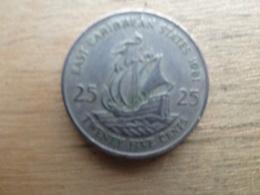 East  Caraibes  25  Cents  1981  Km 14 - Caraïbes Orientales (Etats Des)