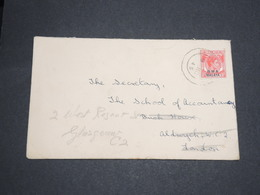 SINGAPOUR - Enveloppe De Singapour Pour La Grande Bretagne En 1945 -  L 13633 - Singapore (...-1959)
