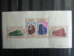 R. CENTRAFRICAINE 1963 BLOC Y&T N° 1 ** - PROJET DE VOIE FERREE BANGUI-DOUALA - Central African Republic