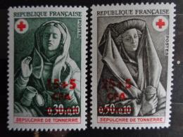 REUNION C.F.A. 1973 CERES N° 418 & 419 ** - CROIX ROUGE - Reunion Island (1852-1975)