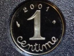 BELLE EPREUVE 1 CENTIME EPI 2001  ( DU COFFRET ) - France