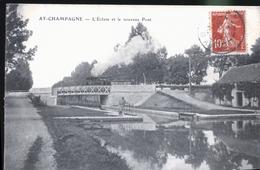 AY CHAMPAGE LE PASSAGE DU TRAIN CBR     TRAIT ANTI COPIE - Ay En Champagne