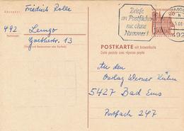 LEMGO - 1966 , Burgen Und Schösser , Postkarte Mit Rückantwort - BRD