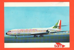 Aereo Caravelle SAM Società Aerea Mediterranea Cpa Anni '60 Avion Flight - 1946-....: Modern Era