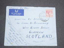 SINGAPOUR - Enveloppe De Singapour Pour La Grande Bretagne En 1954 -  L 13634 - Singapore (...-1959)