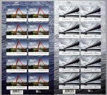 Iceland 2018 2 Sheets Self-adhesive MNH Europa Stamps Bridges  Bridge Ponts Pont - 2018