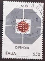 ITALIA 1989 Campaign Against AIDS. USADO - USED. - 1981-90: Usati