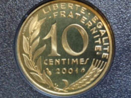 BELLE EPREUVE 10 CENTIMES LAGRIFFOUL 2001 FER A CHEVAL  ( DU COFFRET ) - France