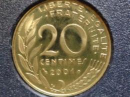 BELLE EPREUVE 20 CENTIMES LAGRIFFOUL 2001 FER A CHEVAL  ( DU COFFRET ) - E. 20 Centimes