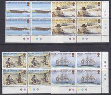 Falkland Islands 1999 Californian Gold Rush 4v  Bl Of 4  (corners) ** Mnh (37716B) - Falklandeilanden