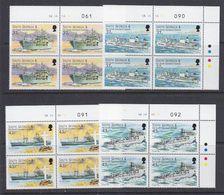 South Georgia 2001 Auxiliary Fleet 4v Bl Of 4 (corner, Sheet Number) (37717B) - Zuid-Georgia