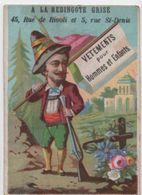 Chromo Habillements / Bergamasque /A La Redingote Grise/Rue De Rivoli/Paris/Bouillon-Rivoyre  / Vers 1880  IMA397 - Cromo