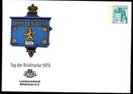 BRIEFKASTEN HESSEN 1865 Bund PU110 C1/007a Privat-Umschlag  LV Mittelrhein 1979 - Post