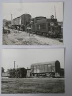 POLOGNE Et ALLEMAGNE : BVA - Loco Vapeur Voie étroite Trucks De Transport Wagon à Voie Normale - Détails 2 Scans - Trains