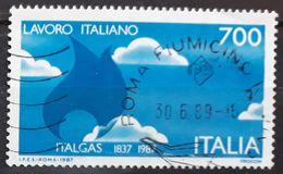 ITALIA 1987 Industries Anniversaries. USADO - USED. - 1981-90: Usati