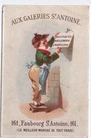 Chromo/ Nouveautés Habillements /Affichage/ Aux Galeries Saint Antoine /Fbg St Antoine/Paris/Hamelin/ Vers 1880  IMA398 - Cromo