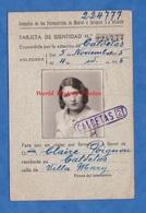 Carte Ancienne D'identité Tarjeta De Identitad - 1935 - CALDETAS - Compania Ferrocarriles De Madrid Zaragoza Alicante - Transportation Tickets