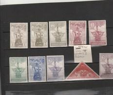 Espagne - Yvert  442 à 450+ Exprès 9  * Neufs Avec Charnière - Bateaux - 1889-1931 Kingdom: Alphonse XIII