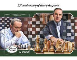 SIERRA LEONE 2018 - Garry Kasparov, Chess S/S. Official Issue. - Schaken