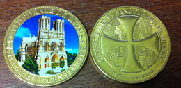 51 REIMS LA CATHÉDRALE 8ème CENTENAIRE MÉDAILLE ARTHUS BERTRAND 2011 EN COULEUR JETON MEDALS TOKEN COINS - 2011