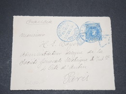"""ESPAGNE - Oblitération """" Congreso """" En Bleu Sur Devant D 'enveloppe Pour La France -  L 13653 - 1889-1931 Kingdom: Alphonse XIII"""