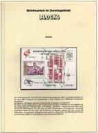 EXFILNA 1991 Granada Spanien 2984+Block 39 ** 4€ Stadttor Santa Fe Hb Military Map Bloc Philatelic Sheets Bf Espana - Blocs & Hojas