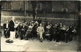 Themes Div - Ref W437- Carte Photo Non Située A Identifier - Musique Et Musiciens - Carte Photo Bon Etat  - - Musique Et Musiciens
