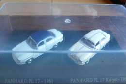 PANHARD PL 17 1961 ET PL 17 RALLYE 1961 DUO METAL UNIVERSAL HOBBIES  ATLAS ECH 1/87 HO 2 SCAN - Scale 1:87