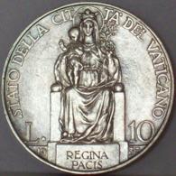 Città Del Vaticano  Pio XI 10 Lire 1937 - UNC - Vaticano