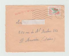 Devant D'enveloppe 1963 -  Cachet  SETIF  Sur Timbre - Algeria (1962-...)