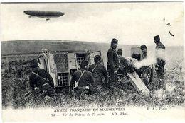 ARMEE FRANCAISE EN MANOEUVRES  -  TIR DE PIECE DE 75 M/M - Guerra 1914-18